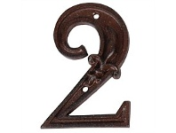Living & Giving House Number Cast Iron 2