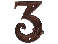 Living & Giving House Number Cast Iron 3
