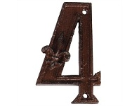 Living & Giving House Number Cast Iron 4