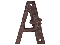 Living & Giving House Letter Cast Iron A