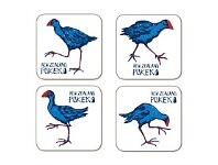 Living & Giving NZ Pukeko Set Of 4 Coasters