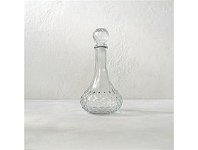 Living & Giving Wide Base Cut Glass Decanter 27cm