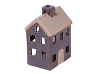 Living & Giving Tealight House Decor Grey & White Small
