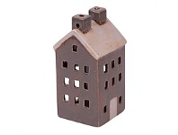 Living & Giving Tealight House Decor Grey & White Tall