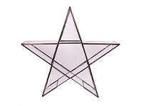 Living & Giving Light Up Glass Star Christmas Decor Small