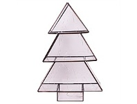 Living & Giving Light Up Glass Tree Christmas Decor Small