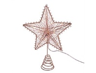 Living & Giving Light Up Christmas Tree Topper Copper