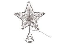 Living & Giving Light Up Christmas Tree Topper Silver
