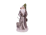 Living & Giving Santa With Deer Standing Christmas Decoration