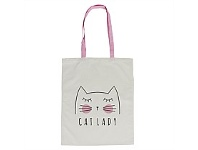 Living & Giving Annabel Trends Tote Bag Cat Lady 45x40cm