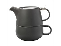 Living & Giving Maxwell & Williams Tea For One Teapot Charcoal 450ml