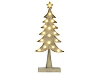 Living & Giving Metal Tree with Lights Christmas Decor Silver Tall