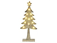 Living & Giving Metal Tree with Lights Christmas Decor Silver Medium