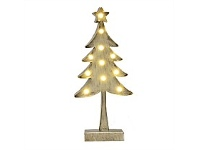 Living & Giving Metal Tree with Lights Christmas Decor Silver Small