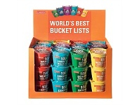 Living & Giving Tabletop Bucket Lists Novelty Buckets Assorted