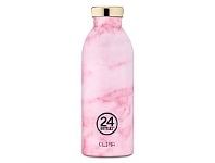 Living & Giving 24 Bottles Clima Double Wall Drink Bottle Marble Pink 500ml