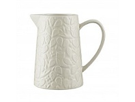 Living & Giving Mason Cash In The Forest Pitcher White 1L
