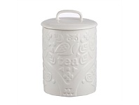 Living & Giving Mason Cash In The Forest Tea Jar White 15cm