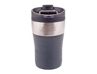 Living & Giving Oasis Cafe Stainless Steel Travel Cup Charcoal Grey 280ml