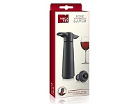 Living & Giving Vacu Vin Wine Saver 3 Piece Gift Set Black