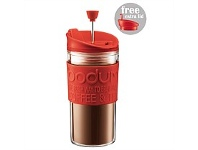 Living & Giving Bodum Travel Press Set With Extra Lid Red 350ml
