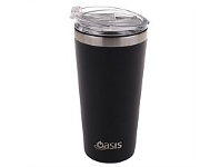 Living & Giving Oasis Stainless Steel Travel Cup with Lid Matte Black 480ml