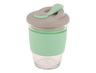 Living & Giving Oasis Glass Coffee Cup Spearmint 340ml
