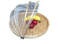 Living & Giving Flat Food Cover Natural 40cm