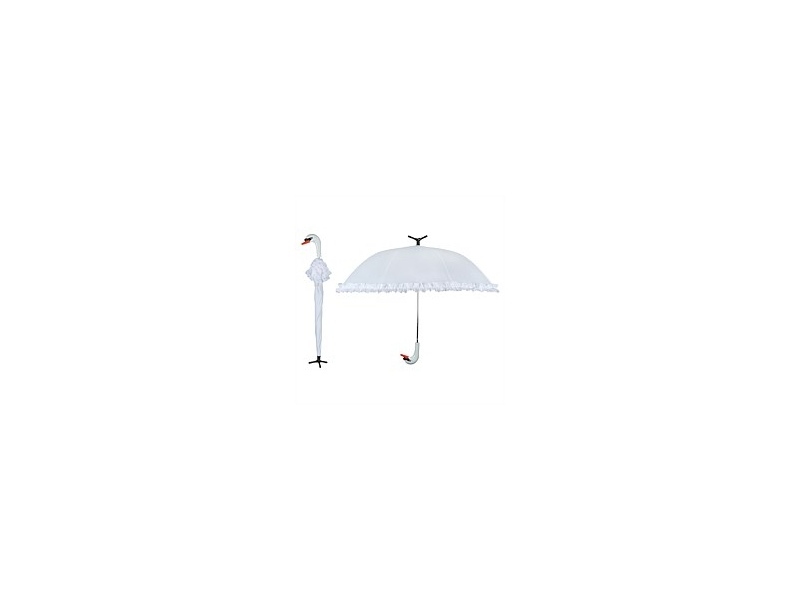 Swan Umbrella with Stand 99x80cm