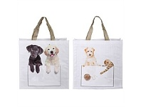 Living & Giving Dog Shopping Bag Assorted 40x14x40cm