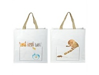 Living & Giving Cat Shopping Bag Assorted 40x14x40cm