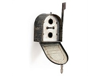 Living & Giving Oslo Galvanised Outdoor Mailbox Birdhouse 20x13x24cm