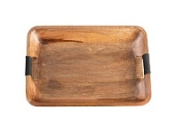 Living & Giving Rectangular Wooden Tray Natural Large