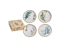 Living & Giving Rosanna Farm to Table Plate Set of 4 Herbs 15cm