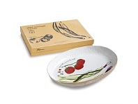 Living & Giving Rosanna Farm to Table Oval Serving Dish Spring Onion