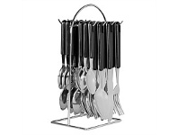 Living & Giving Avanti Hanging Cutlery With Wire Frame Black