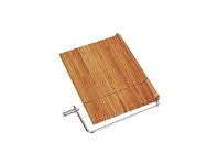 Living & Giving Cheese Board Bamboo with Wire Cutter