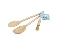 Living & Giving Tala Assorted Colours Set 3 Wooden Utensils