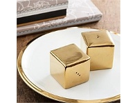Living & Giving Dore Gold Salt and Pepper Shakers