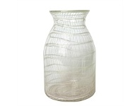 Living & Giving Clear with White Net Vase Small