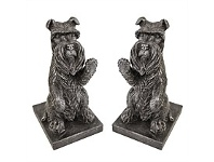 Living & Giving Schnitz the Schnauzer Bookends 11x10x2cm