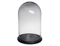 Living & Giving Dome w Base Tall Wide Black 31x48cm