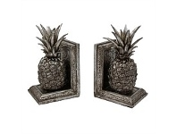 Living & Giving Pewter Finish Pineapple Bookends 12x10cm