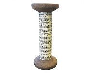 Living & Giving Musical Scroll Taper Candle Holder Large