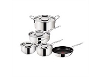 Living & Giving Jamie Oliver Stainless Steel with Copper Cooks Set 5pc