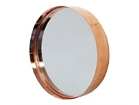 Living & Giving Round Copper Metal Cake Tin Mirror 30cm