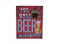 Living & Giving Ice Cold Beer Wall Plaque 23x18cm