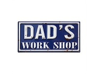 Living & Giving Dads Work Shop Wall Plaque 40x30cm