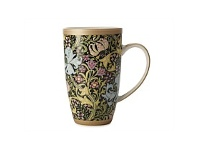 Living & Giving Maxwell & Williams Morris Golden Lily Black Coupe Mug 420ml