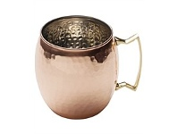 Living & Giving Moscow Mule Hammered Round Tankard Copper 473ml